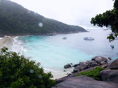 Similan Island, Thailand (Jan-2016) 20-006 (MistyTree Adventures) Tags: seasia thailand outdoor mukosimilannp panasoniclumix similanisland boats ocean bay rocks trees