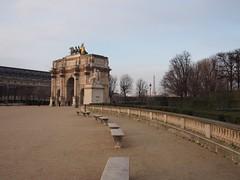 Are de Triomphe du Carrousel in Place du Carrousel (procrast8) Tags: paris france arc triomphe carrousel eiffel tower place denon louvre palais palace museum musee art