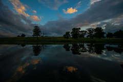 Water reflections (Costigano) Tags: water reflection river carton kildare ireland irish trees clouds sky outdoor nature scenery scenic