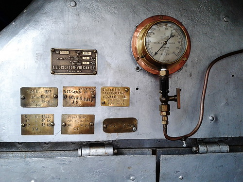 The boiler and manometer of Vetäjä 5