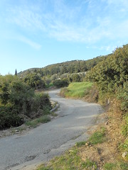 (Psinthos.Net) Tags: road light shadow sky sunlight mountain nature field clouds countryside spring rocks afternoon ground bluesky soil greens april fields shrubs cypresstree olivetrees     lightclouds   fasuli psinthos  stonees              fasouli        fasoulipsinthos