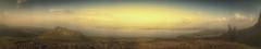Sunset Panorama at The Old Man of Storr (Isle of Skye, Scotland. Gustavo Thomas  2014) (Gustavo Thomas) Tags: voyage uk greatbritain travel viaje sunset sky panorama naturaleza skye nature clouds landscape atardecer scotland europe unitedkingdom lakes wideangle natura paisaje escocia adventure paysage paesaggio coucherdesoleil vintagestyle aventura filtered panormica storr cosse cadadesol