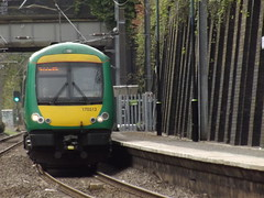 Five Ways Station - London Midland 170513 (ell brown) Tags: greatbritain england birmingham unitedkingdom westmidlands fiveways turbostar edgbaston class170 londonmidland crosscityline stjamesrd islingtonrowmiddleway fivewaysstation electrifiedrailwayline stjamesroadbridge