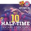 Half time / Mitja part / Media parte  FC BARCELONA VS BAYERN MUNICH (0-0)    #FCBFCB #UCL  Força Barça!!! #neymar92 #aan_neymar_jr