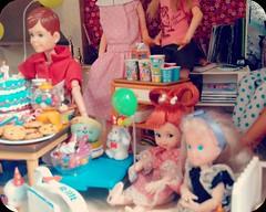 Birthday Party (plastigffantastig88) Tags: birthday party cake kids children toys miniature doll dolls candy balloon barbie shelly rement ricky mattel dollhouse sindy tyco