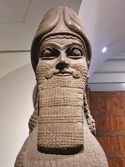 Lamassu's Beard (jere7my) Tags: greatbritain vacation england sculpture london statue museum beard unitedkingdom britishmuseum lamassu 2014 wingedlion nimrud ashurnasirpalii