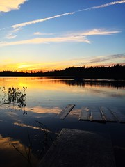 July 2016 (RebeccaPrice93) Tags: oceanpond sinking ward cabin camping sunset pond canada newfoundland