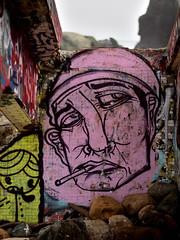 Mile Rock Beach (Tom Hilton) Tags: landsend milerockbeach graffitti