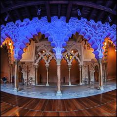 (2326) Palacio de La Aljafera, Zaragoza (Fisheye world) (QuimG) Tags: golden fisheye zaragoza interior art architecture arquitectura olympus quimg quimgranell joaquimgranell afcastell specialtouch obresdart