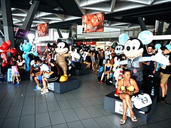 Mickey Mouse at Central Railway Station of Naples (Carlo Raso) Tags: mickeymouse centralrailwaystation naples italy