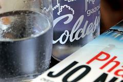 blueberry lemonade (overthemoon) Tags: switzerland suisse schweiz svizzera romandie vaud lausanne lemonade blueberry refreshing glass bottle book jonesbo phantom obcz bookcrossing utata:project=tw536 ledlice galeriedebourg