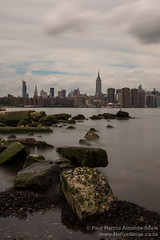 New York City Skyline Over the East River in Brooklyn