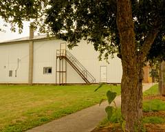 Masonic Temple (joeldinda) Tags: fireescape lawn door fraternalorganization village park building tree 3211 july sidewalk window sky cloud mulliken 1v2 nikon nikon1v2 michigan 2016 v2 31365