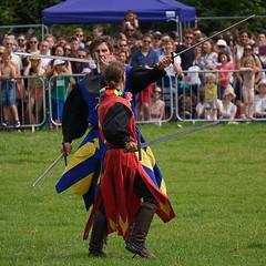 Sword Fight (McTumshie) Tags: england london fight unitedkingdom knights swords lambeth brockwellpark lambethcountryfair 16july2016
