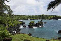 Black Sand Beach (spollock61) Tags: summer nature water beauty island hawaii nikon maui pacificocean hana blacksandbeach