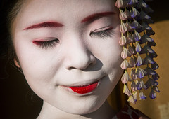 Portrait of a 16 years old maiko called chikasaya with closed eyes, Kansai region, Kyoto, Japan (Eric Lafforgue) Tags: portrait woman white macro beautiful beauty face japan horizontal closeup female hair asian japanese clothing eyes kyoto colorful asia pretty feminine painted young culture makeup grace teen maiko geisha teenager lip kimono gion lipstick tradition oriental youngadult solitary hairstyle youngwoman apprentice oneperson elaborate kanzashi 1617years oneyoungwomanonly 1people kansairegion japaneseethnicity colourpicture chikasaya komayaokiya japan161711