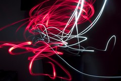 Day 21/365 (Saul atkinson) Tags: light painting paint lighting black red white fancy lines curved