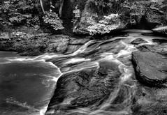 Cedar Falls downstream, Hocking Hills SP, Ohio...6O3A1480_1_2_tonemappedA (dklaughman) Tags: hockinghills columbus ohio water waterfalls blackwhite thebestofhdr hdr photomatix