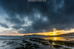 Compton (frattonparker) Tags: sunset sea sky beach clouds raw isleofwight englishchannel lamanche tamron28300mm chalkdownland ndgradfilter nikond600 btonner frattonparker lightroom6 09ndsoftgradfilter