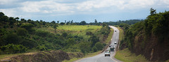 Moshi (Da Traveler) Tags: landscape hill outdoor horizon green cars road africa tanzania bangladeshi photographer kamrul hasan