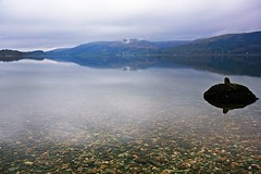 Lomond Lake (anna steppenwolf) Tags: lake water scotland stillwater lochlomond quietwater peacefulwater