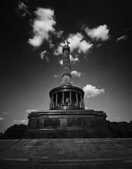 Victory Column (Siegessule) Berlin (PeskyMesky) Tags: berlin victorycolumn siegessule monument germany flickr sky cloud pov pointofview monochrome bw blackandwhite canon canoneos500d
