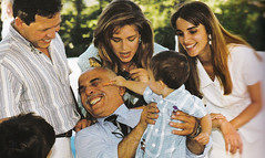 Prince Hussein gets agressive with his grandfather (Doc Kazi) Tags: jordan hashemite kingdom monarchy hussein talal hassan sarvath noor lisa clinton hillary bill rabin leah mobarak yasser arafat hosni suha princes princesses nineties middle east peace oslo ii