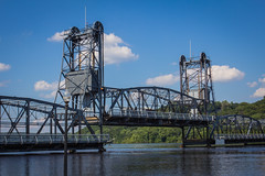 Stillwater Bridge over the St. Croix River (Photos By Clark) Tags: canon2470 canon60d locale location minnesota northamerica places unitedstates where stillwater river bridge steel water lift traffic lightroom