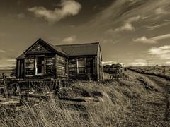 Hoy cottage (ingrid_b21) Tags: hoy derelict cottage blackandwhite orkney abandoned abandonedscotland iphone snapseed