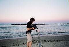 (Marco Antonecchia) Tags: mjuii mju olympus olympusmjuii fujicolor fujifilm analog streetphotography sea beach avenger elettrician sunset grip 35mm set backstage bewider light mattiatedeschi