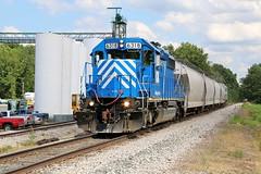 Norwalk Switcher (BravoDelta1999) Tags: wheelingandlakeerie wle railroad norfolkandwestern nw railway hartland norwalk ohio hartlandsubdivision emd sd403 6318 manifest train