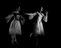 Moment (Klaudia D. P.) Tags: dance dancers girl models studio light dark black background ballet ballerina art moves moving perfomrance women female blackandwhite monochrome clack white