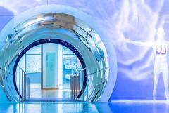 Can you hear me, Major Tom? (*Capture the Moment*) Tags: 2016 deutschesmuseum farbdominanz future germanmuseum licht light minimalism minimalismus mirror reflections secret sonya7ii sonysel90m28g spiegelung tunnel zukunft blau blue