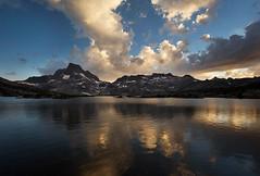 Evening clouds, Ansel Adams Wilderness (hansol0) Tags: storm thousandisland anseladamswilderness lake reflection ritter banner peak