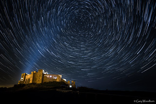 Bamburgh Trails - Star Trail, Bamburgh Castle, Northumberland