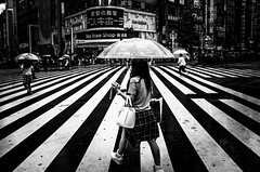 .a different point of view. (Shirren Lim) Tags: crossroads umbrella people summer tokyo japan building rain