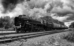 pg__000132747 (Phil Grain) Tags: 9f steam train gcr greatcentralrailway great central railway bw blackandwhite blackwhite nik software swithland swithlandsidings