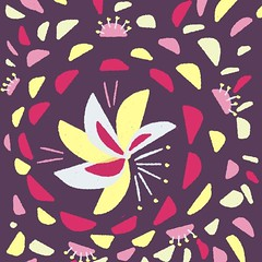 Created this color scheme and just doodling while exploring it (borianag) Tags: art pretty bright colorful color floral flowers flower fiftythree pattern madewithpaper illustration artwork doodles doodle sketches sketch ifttt instagram
