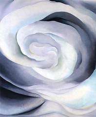 Georgia O'Keeffe - Abstraction White Rose (1927) (chicbee04) Tags: georgiaokeeffe abstractionwhiterose 1927 painting art rose whiterose abstract sensuous surreal