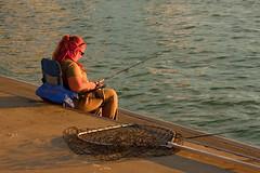 Michigan City Harbor Fishing Off the Pier 9-12-2016 8619 (www.cemillerphotography.com) Tags: lakefront lakemichigan sundown dusk nightfall washingtonpark recreation megawatt energy emissions indiana factory smokestack smoke