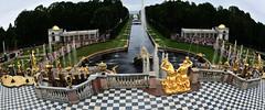 RUSSIE -palaid de Peterhof : le parc (AlCapitol) Tags: russie peterhof palais parc statue dallage canal paysage bassindeau jardin garden nikon d800 palace