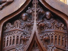 Angels in Canopies, Barkestone (Aidan McRae Thomson) Tags: barkestone church leicestershire medieval woodwork woodcarving