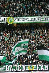 2015-04-04 Hammarby - Häcken027 (HAKANU) Tags: sweden stockholm söder södermalm tele2arena tele2 arena fotboll football hammarby bajen hammarbyfotboll spectators fans banner flag green bajenfans