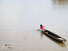 Girl and Boat - Mekong Discovery