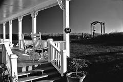 Addy Sea front porch (Bill Jonscher) Tags: morning travel vacation tourism architecture vintage quiet chairs calm porch destination serene relaxation seashore renewal