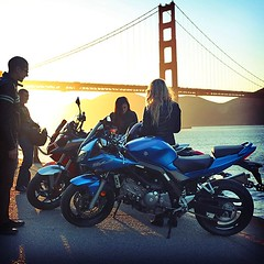 Motorcycles and the Golden Gate Bridge sunset. (SF Moto) Tags: sf sanfrancisco honda motorcycles goldengatebridge moto bayarea motorcycle suzuki kawasaki bikers riders motorcyclist goldengatebridgesunset ggb motorcyclegear suzukisv650 kawi sanfranciscogoldengatebridge kawasakininja650r sunsetphotos sfmoto sunsetinsanfrancisco motorcyclelove motorcycleshopinsanfrancisco motorcyclesatthegoldengatebridge kawasakininja650rinsanfrancisco sfmotosanfrancisco motorcyclestoreinsanfrancisco bayareamotorcycle