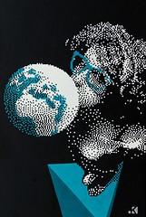 Fresh oxygen (.krayon) Tags: art girl artwork acrylic day handmade earth brush canvas halftone pixel pixelart earthday canvasart krayon customcanvas