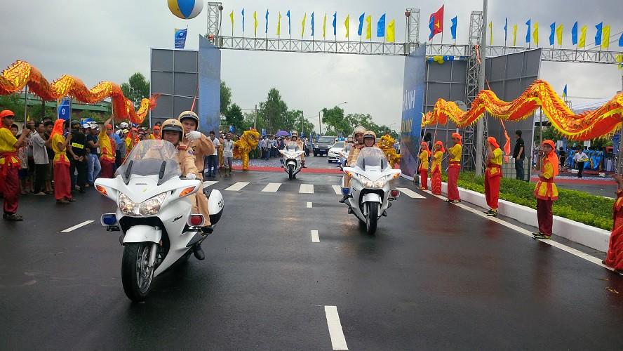 Buổi lễ khánh thành con đường vừa diễn ra vào ngày 25-4