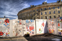 Mural. (sidibousaid60) Tags: uk mural buxton derbyshire hdr backview thecrescent photomatix