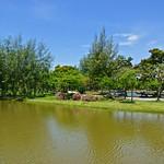 Lake and trees in Muang Boran (Ancient Siam) in Samut Prakan, Thailand thumbnail